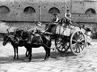 Domenico Montecchi begins transporting goods in Pavullo, Italy