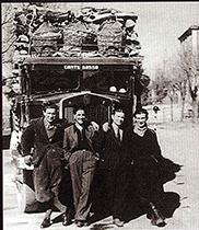 No obstante los años duros de la guerra, la familia Montecchi continúa su actividad