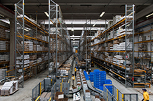 Inauguración del primer almacén automatizado dedicado a la logística en Campogalliano, Italia