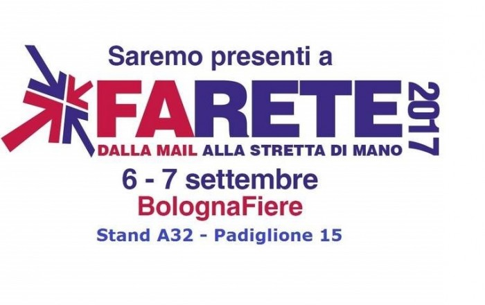 Visit us at Bologna's Farete on 6 and 7 September
