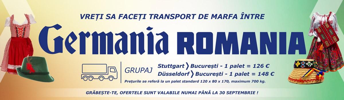 Vreți sa faceți transport de marfa între Germania și România?